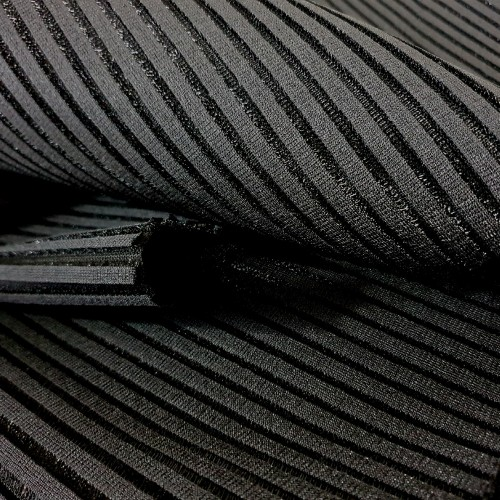 Spacer Ribbed Fabric - Black